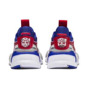 Thumbnail 4 of PUMA x TRANSFORMERS RS-X Optimus Prime Youth Trainers, Dazzling Blue-High Risk Red, medium