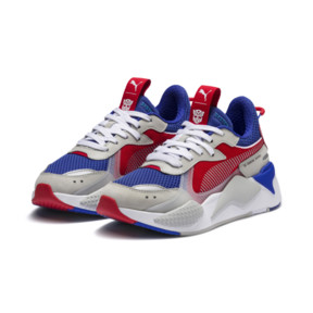 Thumbnail 2 of PUMA x TRANSFORMERS RS-X Optimus Prime Youth Trainers, Dazzling Blue-High Risk Red, medium