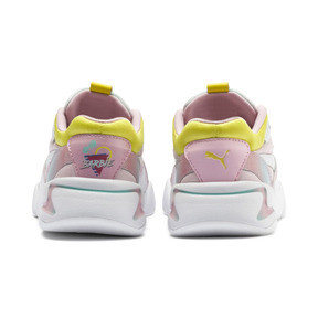 Thumbnail 3 of PUMA x BARBIE Nova Kid Girls' Trainers, Orchid Pink-Puma White, medium