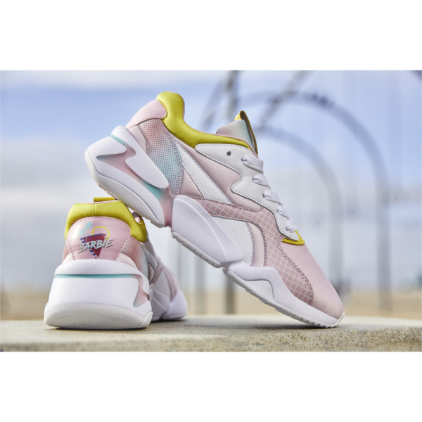 PUMA x BARBIE Nova Kid Girls' Trainers, Orchid Pink-Puma White, large
