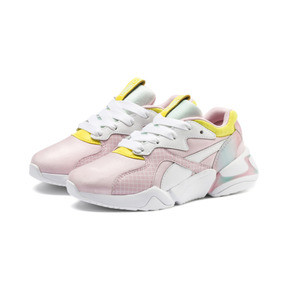 Thumbnail 2 of PUMA x BARBIE Nova Kid Girls' Trainers, Orchid Pink-Puma White, medium