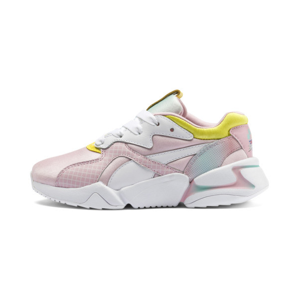 Nova x Barbie Little Kids' Shoes, Orchid Pink-Puma White, large