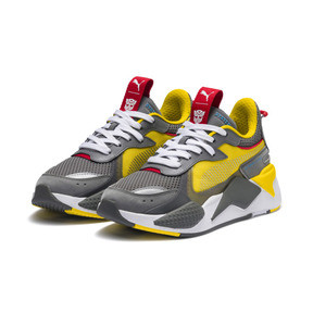 Thumbnail 2 of PUMA x TRANSFORMERS RS-X Bumblebee Youth Trainers, QUIET SHADE-Cyber Yellow, medium