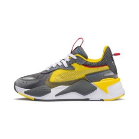 Thumbnail 1 of PUMA x TRANSFORMERS RS-X Bumblebee Youth Trainers, QUIET SHADE-Cyber Yellow, medium