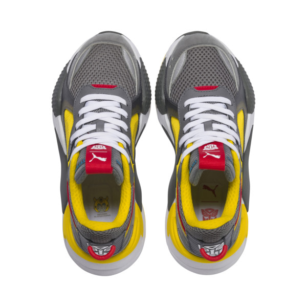 PUMA x TRANSFORMERS RS-X Bumblebee Youth Trainers, QUIET SHADE-Cyber Yellow, large