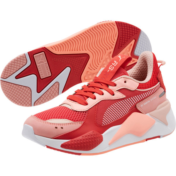 RS-X Toys Women's Sneakers, Bright Peach-High Risk Red, large