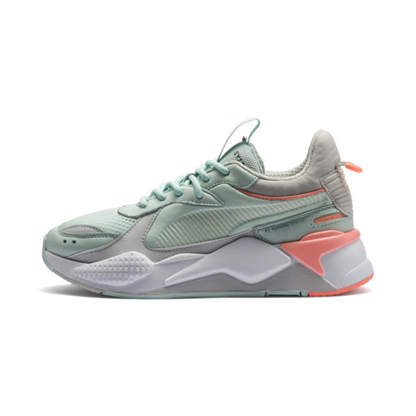 RS-X Tracks Women's Sneakers, Fair Aqua-Glacier Gray, large