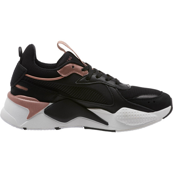 RS-X Trophy Women's Sneakers, Puma Black-Rose Gold, large