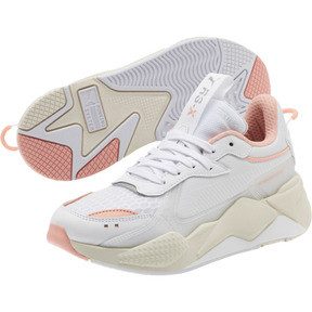 Thumbnail 2 of RS-X Tech Women's Sneakers, Puma White-Peach Bud, medium