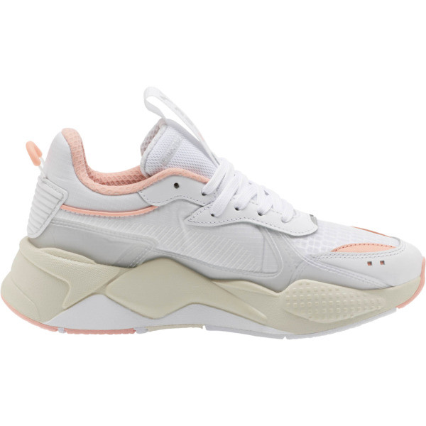 RS-X Tech Women's Sneakers, Puma White-Peach Bud, large