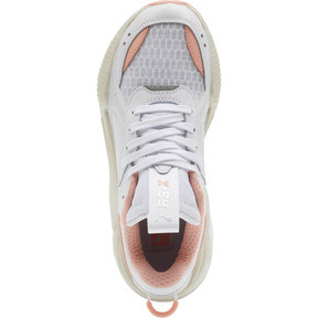 Thumbnail 5 of RS-X Tech Women's Sneakers, Puma White-Peach Bud, medium