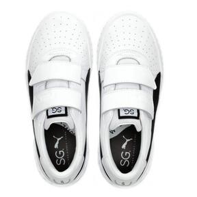 Thumbnail 7 of SG x Cali B+W Women's Sneakers, Puma White-Puma Black, medium