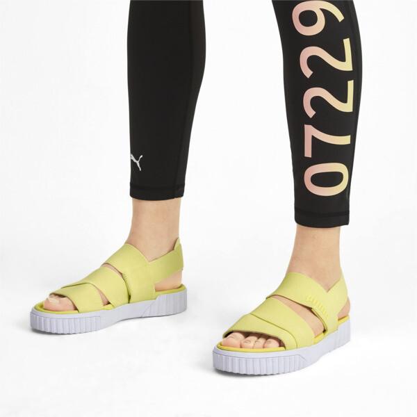PUMA x SELENA GOMEZ Cali Women's Sandals, SOFT FLUO YELLOW, large