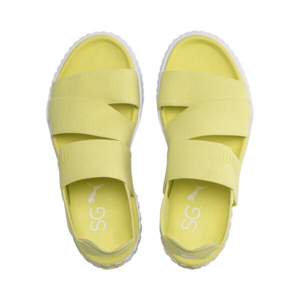 Sandale PUMA x SELENA GOMEZ Cali pour femme, SOFT FLUO YELLOW, large