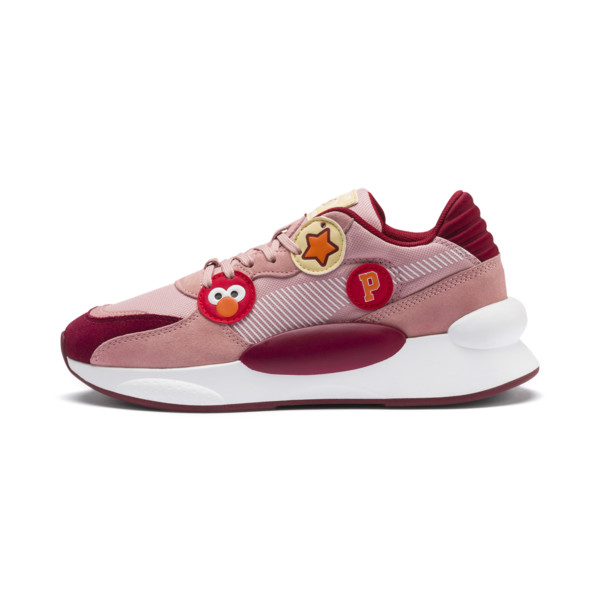 Sesame Street 50 RS 9.8 Youth Trainers, Bridal Rose-Rhubarb, large