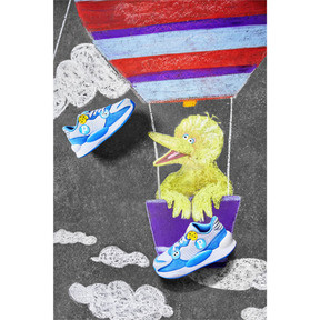 Thumbnail 7 of PUMA x SESAME STREET 50 RS 9.8 Little Kids' Shoes, Grey Dawn-Bleu Azur, medium