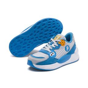 Thumbnail 2 of PUMA x SESAME STREET 50 RS 9.8 Little Kids' Shoes, Grey Dawn-Bleu Azur, medium