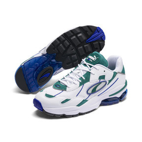 Thumbnail 3 of CELL Ultra OG Trainers, Puma White-Teal Green, medium