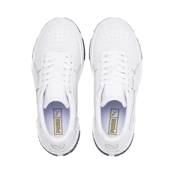 Cali Bold Women's Sneakers, Puma White-Metallic Gold, large