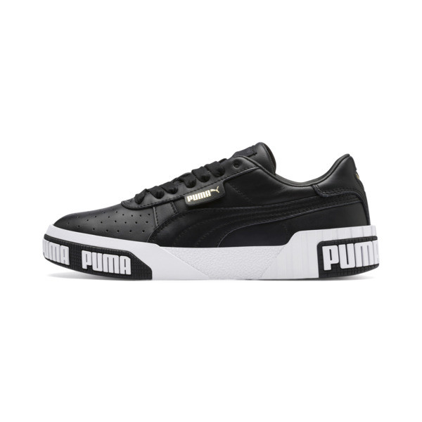 Cali Bold Women's Trainers, Puma Black-Metallic Gold, large