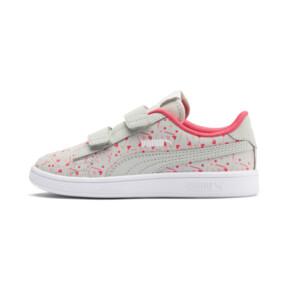 Thumbnail 1 of PUMA Smash v2 Confetti AC Shoes PS, Gray Violet-Bridal Rose, medium