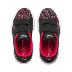 Thumbnail 6 of PUMA Smash v2 Confetti AC Shoes PS, Puma Black-Nrgy Rose, medium