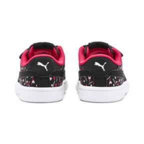 Thumbnail 3 of PUMA Smash v2 Confetti AC Shoes INF, Puma Black-Nrgy Rose, medium