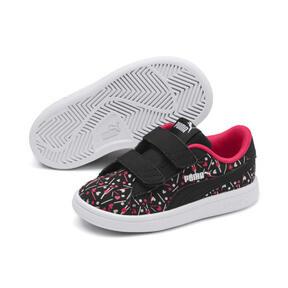Thumbnail 2 of PUMA Smash v2 Confetti AC Shoes INF, Puma Black-Nrgy Rose, medium
