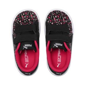 Thumbnail 6 of PUMA Smash v2 Confetti AC Shoes INF, Puma Black-Nrgy Rose, medium