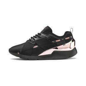 Miniatura 1 de Zapatos deportivos Muse X-2 Metallic para mujer, Puma Black-Rose Gold, mediano