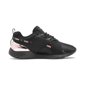 Miniatura 6 de Zapatos deportivos Muse X-2 Metallic para mujer, Puma Black-Rose Gold, mediano