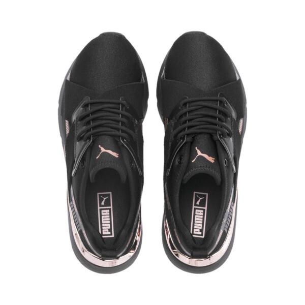 Zapatos deportivos Muse X-2 Metallic para mujer, Puma Black-Rose Gold, grande