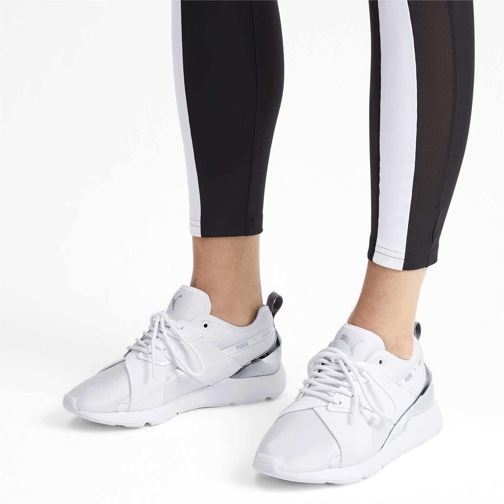 PUMA-Muse-X-2-Metallic-Women-039-s-Sneakers-Women-Shoe-Evolution thumbnail 5