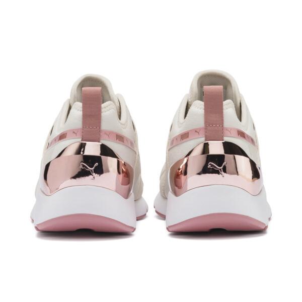 Zapatos deportivos Muse X-2 Metallic para mujer, Pastel Parchment-Rose Gold, grande