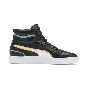 Thumbnail 6 of Ralph Sampson Mid Hoops Sneakers, Puma Blk-Puma Wht-Puma Wht, medium
