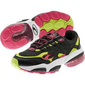 Thumbnail 2 of CELL Venom Fresh Mix Women's Sneakers, Puma Black-Limepunch, medium