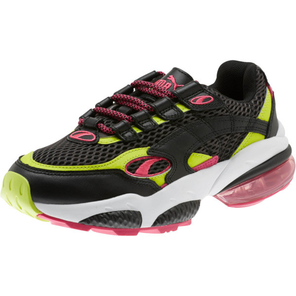 CELL Venom Fresh Mix Women's Sneakers, Puma Black-Limepunch, large