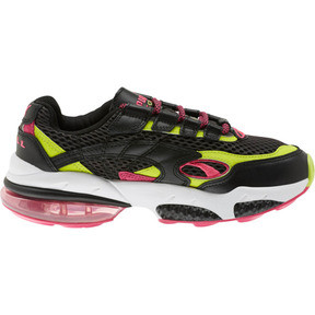Thumbnail 4 of CELL Venom Fresh Mix Women's Sneakers, Puma Black-Limepunch, medium
