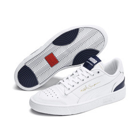 Thumbnail 2 of Ralph Sampson Lo Youth Trainers, White-Peacoat-White, medium