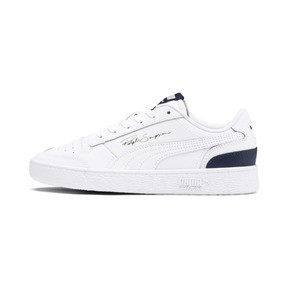 Thumbnail 1 of Ralph Sampson Lo Youth Trainers, White-Peacoat-White, medium