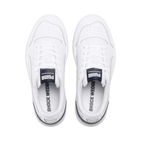 Thumbnail 6 of Ralph Sampson Lo Youth Trainers, White-Peacoat-White, medium