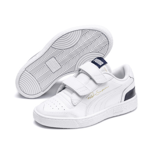 Ralph Sampson Lo V Kids' Trainers, White-Peacoat-White, large