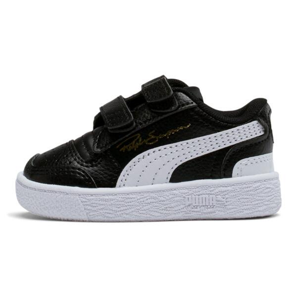 Ralph Sampson Low AC Toddler Shoes, Black-White-White, large