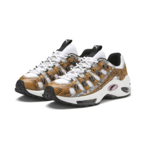 Thumbnail 3 of CELL Endura Animal Kingdom Trainers, Puma White-Golden Orange, medium