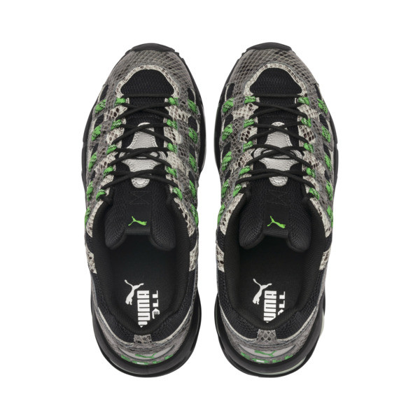 CELL Endura Animal Kingdom Sneakers, Puma Black-Classic Green, large