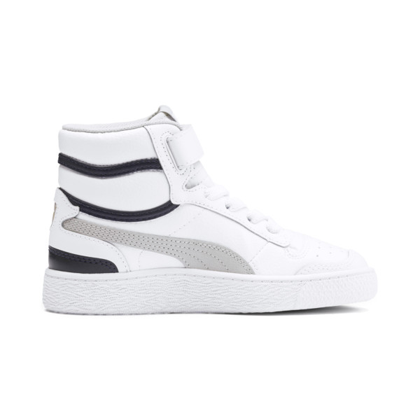 Ralph Sampson Mid Kids' Trainers, White-Gray Violet-Peacoat, large