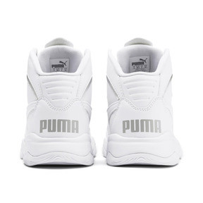 Thumbnail 3 of PUMA Rebound Playoff SL Sneakers JR, Puma White-Puma Silver, medium