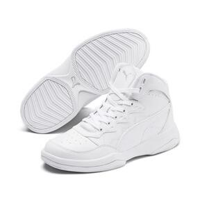 Miniatura 2 de Zapatos deportivos PUMA Rebound Playoff SL JR, Puma White-Puma Silver, mediano