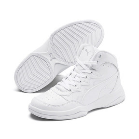 Thumbnail 2 of PUMA Rebound Playoff SL Sneakers JR, Puma White-Puma Silver, medium