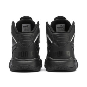 Thumbnail 3 of PUMA Rebound Playoff SL Sneakers JR, Puma Black-Puma Silver, medium